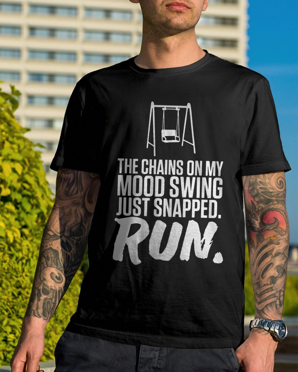 Chains Mood Swing Just Snapped Run Shirt
