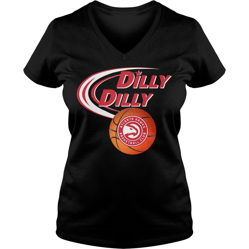 Dilly Dilly Atlanta Hawks Nba Basketball V Neck T Shirt