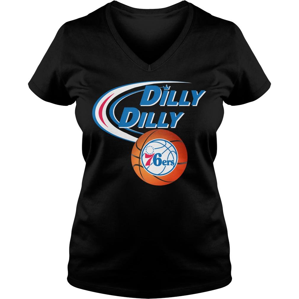 Dilly Dilly Philadelphia 76ers Nba Basketball V Neck T Shirt