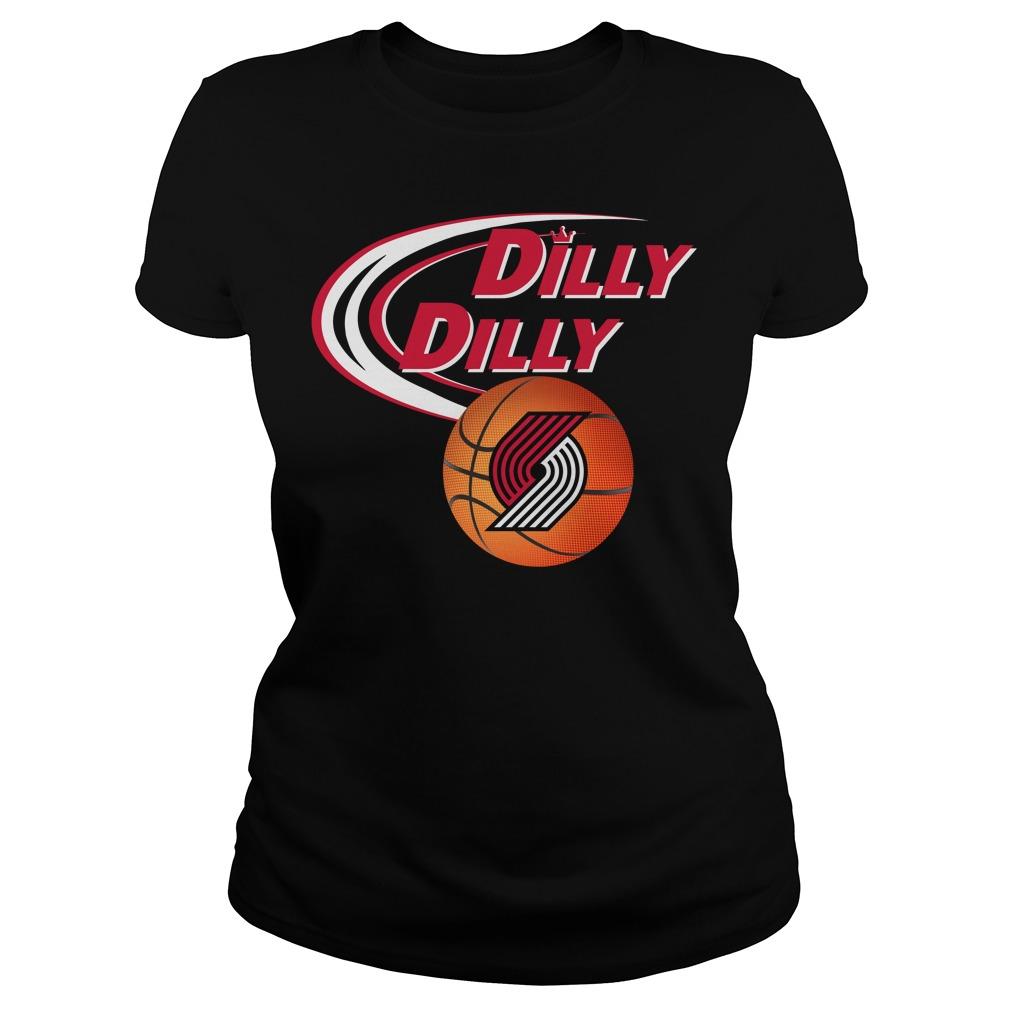 Dilly Dilly Portland Trail Blazers Nba Basketball Ladies Tee