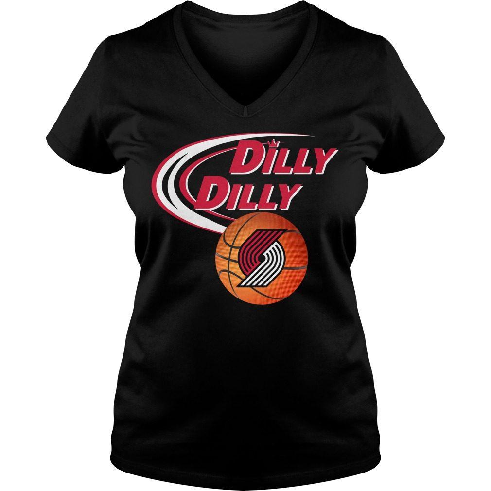 Dilly Dilly Portland Trail Blazers Nba Basketball V Neck T Shirt