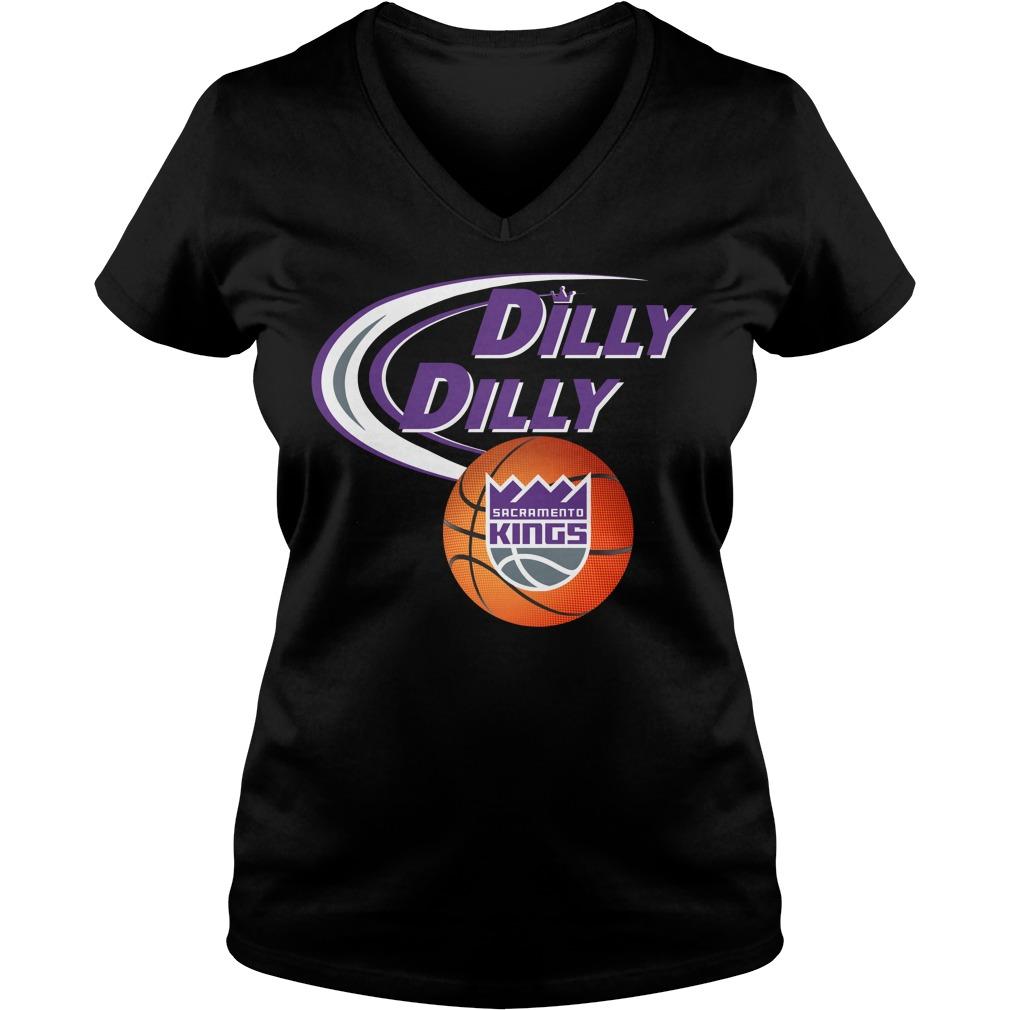 Dilly Dilly Sacramento Kings Nba Basketball V Neck T Shirt