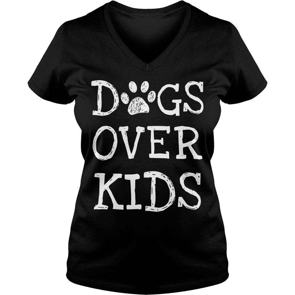 Dogs Kids V Neck T Shirt