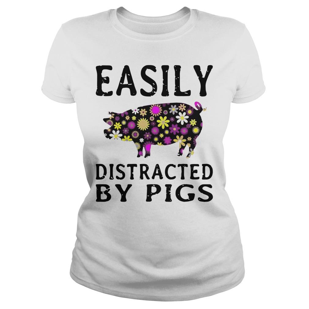 Easily Distracted Pigs Ladies Tee
