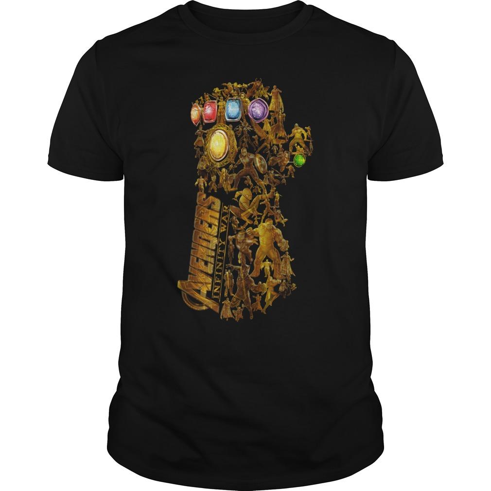 Hero Marvel Avengers Infinity Gauntlet Guys Shirt
