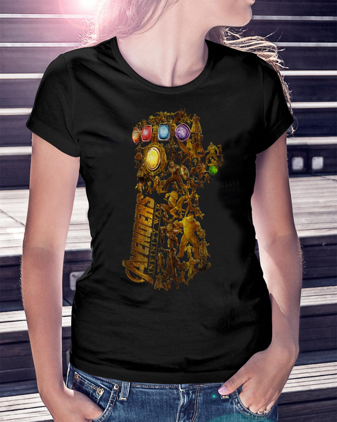 Hero Marvel Avengers Infinity Gauntlet Ladies Tee