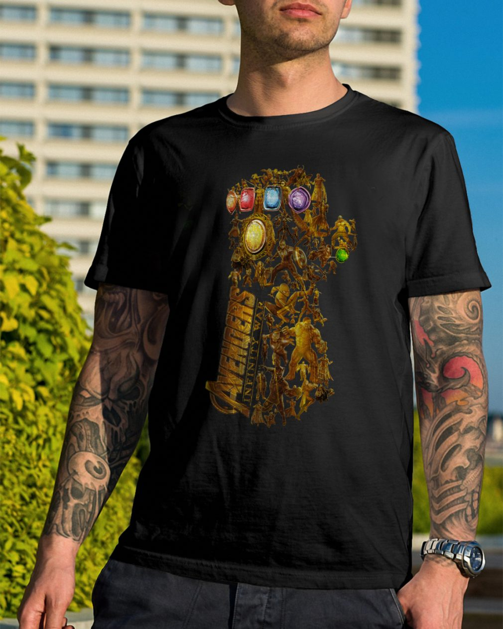 Hero Marvel Avengers Infinity Gauntlet Shirt