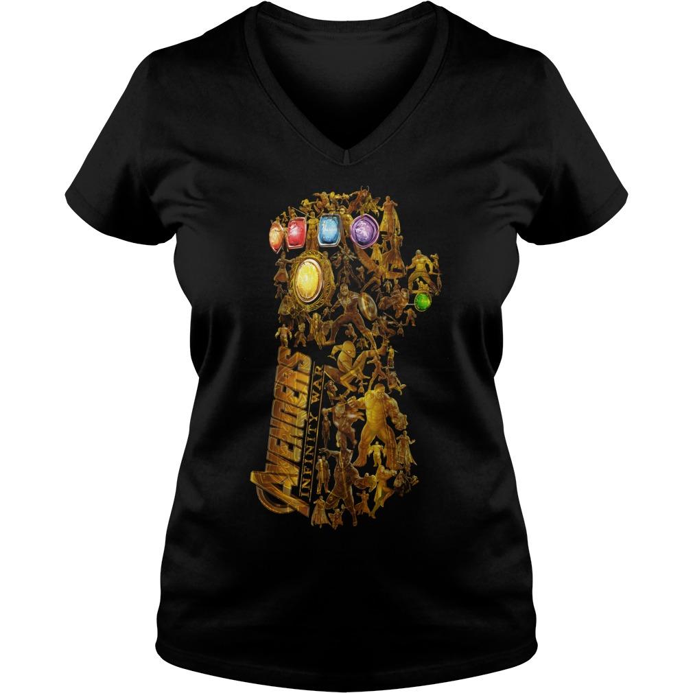 Hero Marvel Avengers Infinity Gauntlet V Neck T Shirt