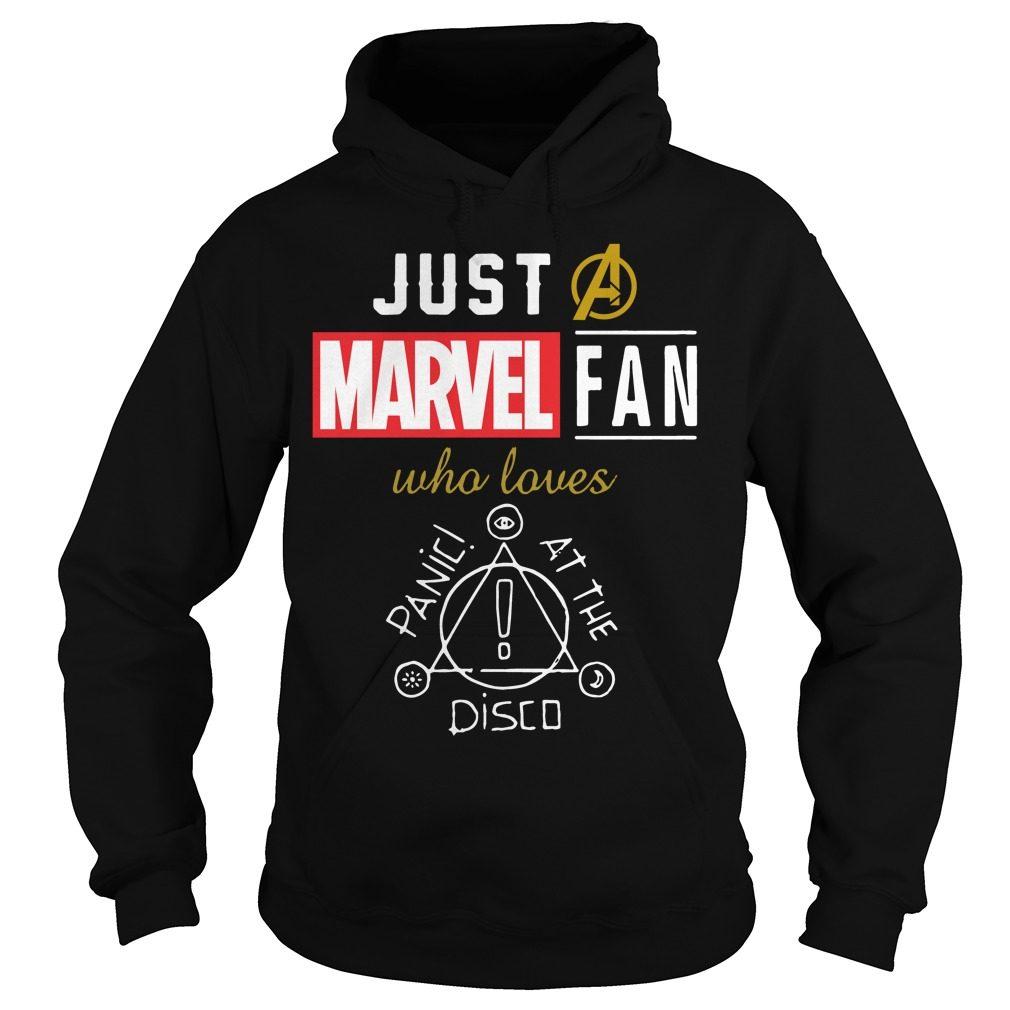 Just Marvel Fan Loves Panic Disco Hoodie