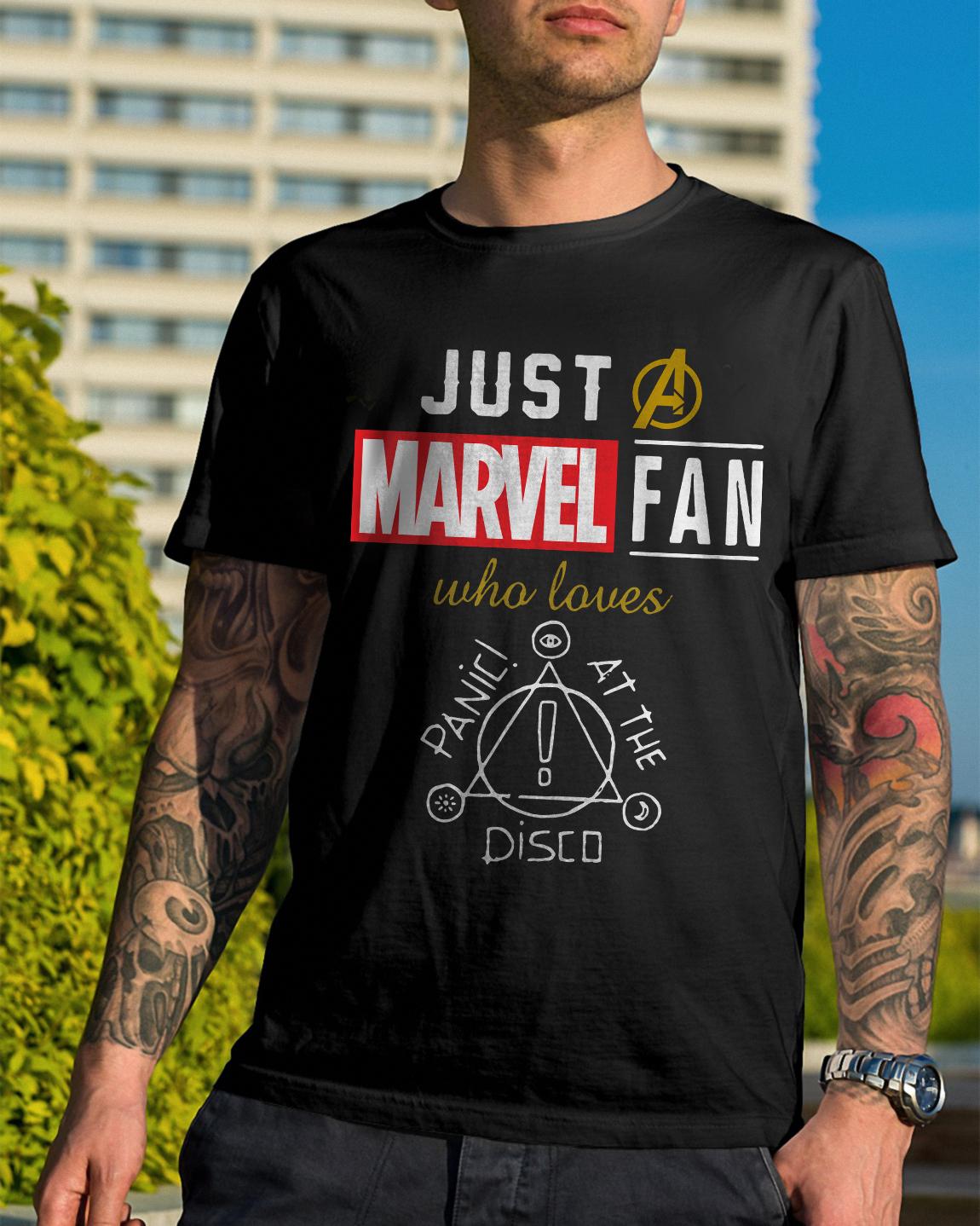Just Marvel Fan Loves Panic Disco Shirt