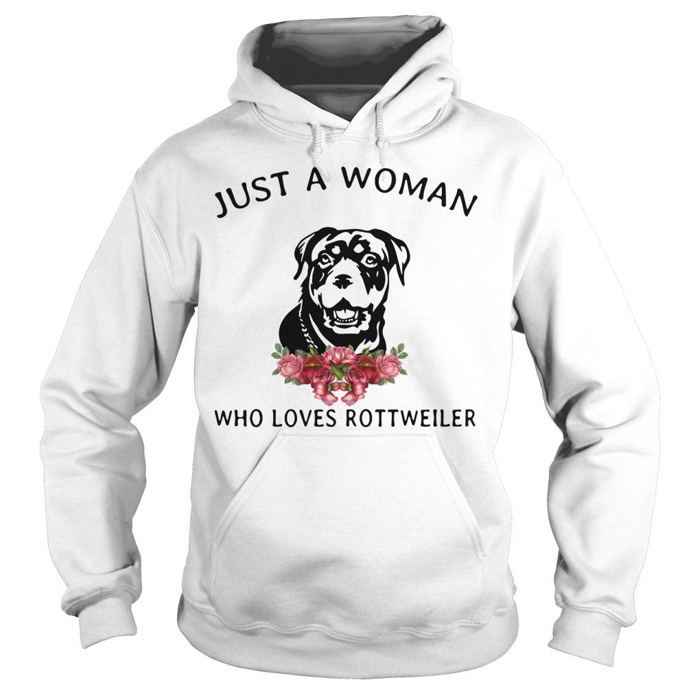 Just Woman Loves Rottweiler Hoodie