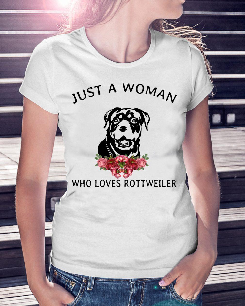 Just Woman Loves Rottweiler Shirt