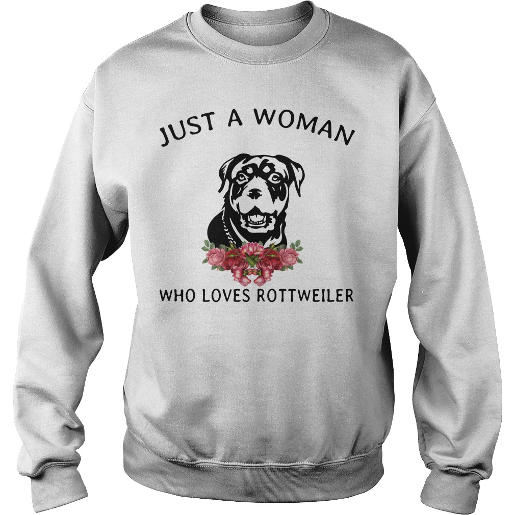 Just Woman Loves Rottweiler Sweater