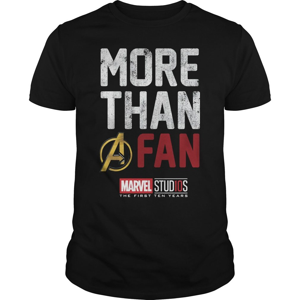 Marvel Studios Ten Years Fan Guys Shirt