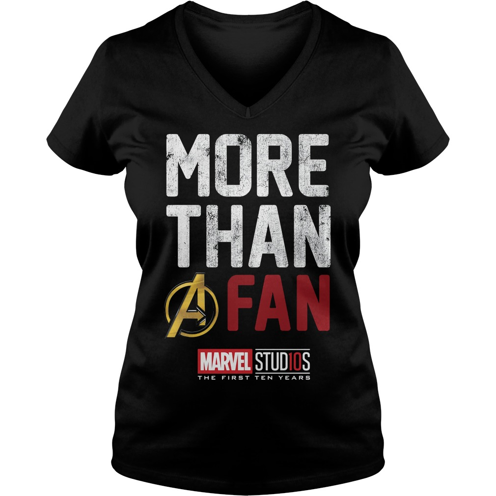 Marvel Studios Ten Years Fan V Neck T Shirt