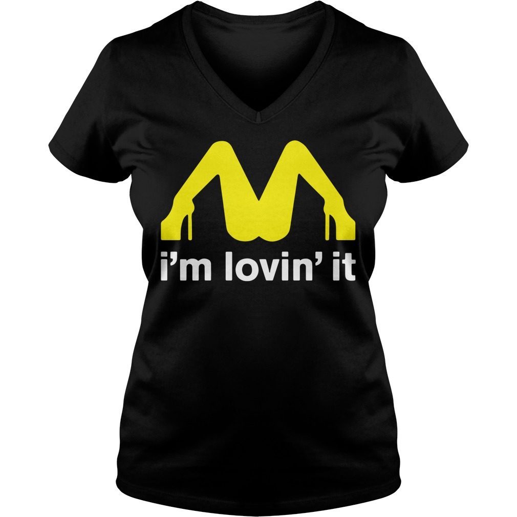 Mcdonalds Im Lovin V Neck T Shirt