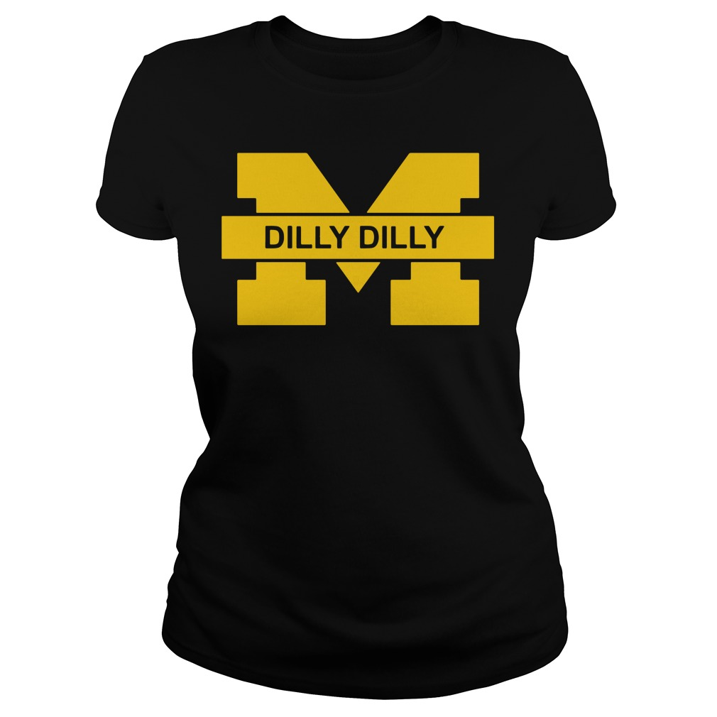 Michigan Wolverines Dilly Dilly Goblue Ladies Tee