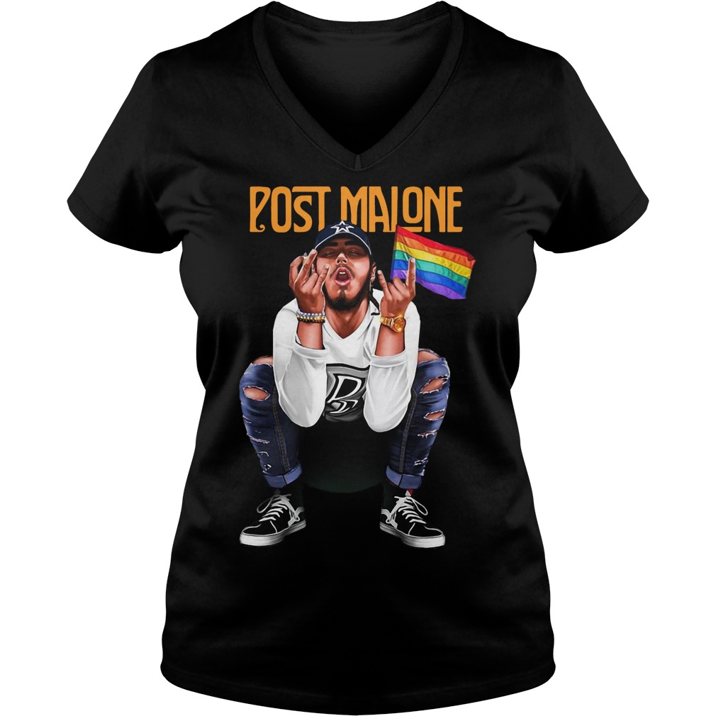 Post Malone Lgbt V Neck T Shirt
