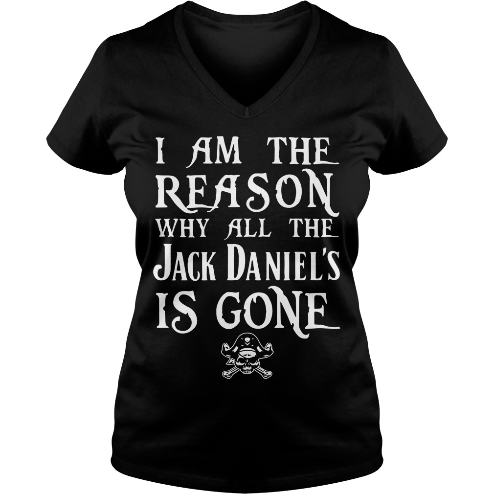 Reason Jack Daniels Gone V Neck T Shirt