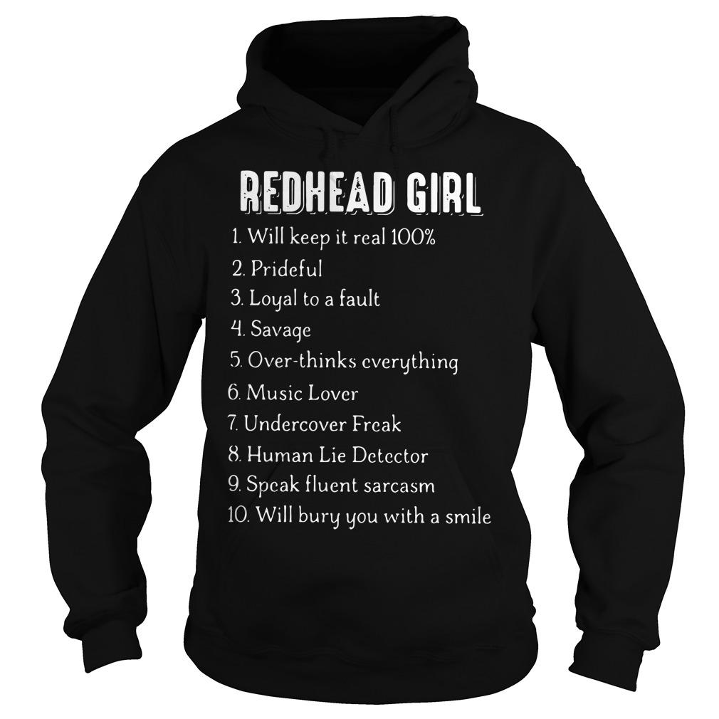 Redhead Girl Will Keep Real 100 Hoodie