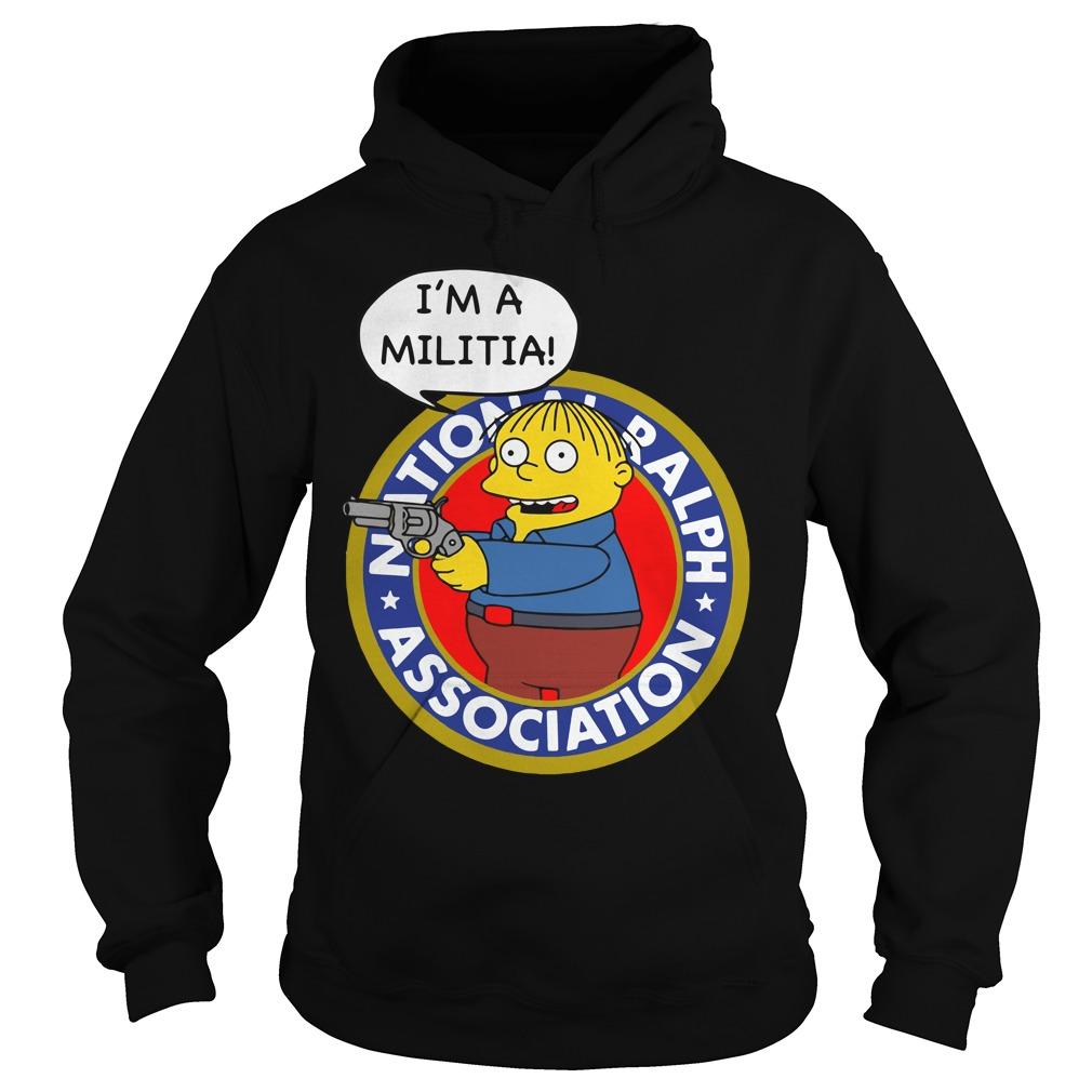 Simpsons Ralph Wiggum Im Militia Hoodie