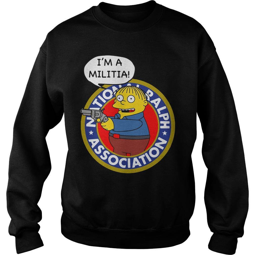 Simpsons Ralph Wiggum Im Militia Sweater