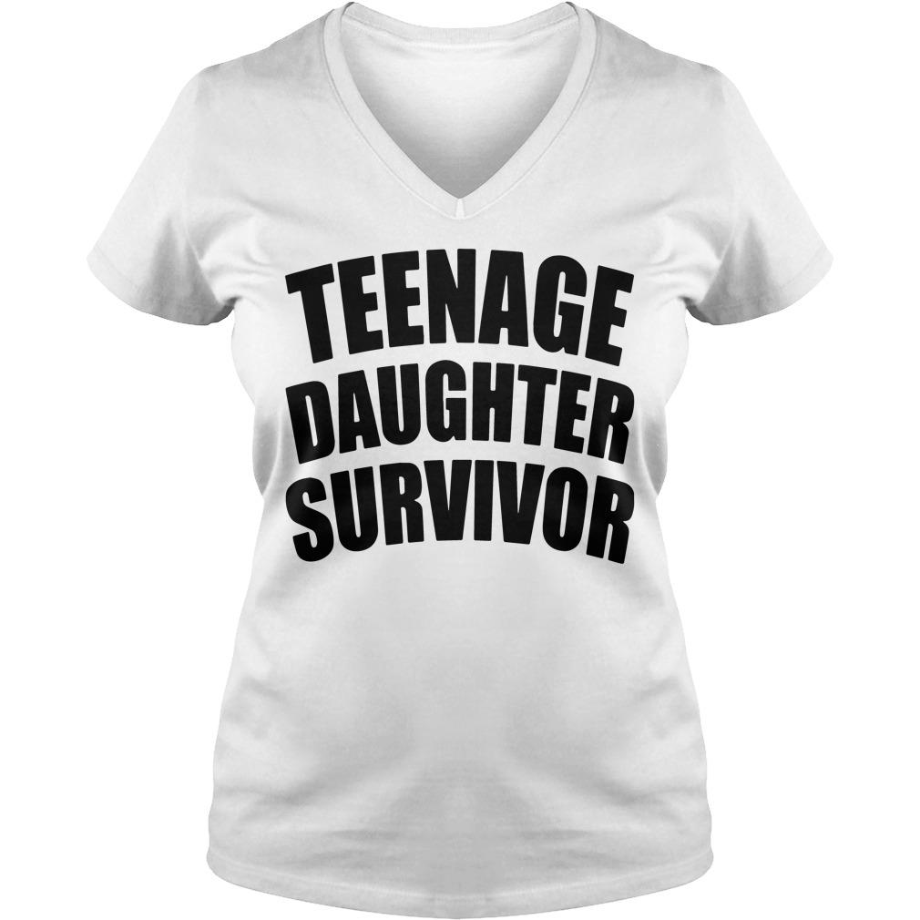 Teenage Daughter Survivor V Neck T Shirt