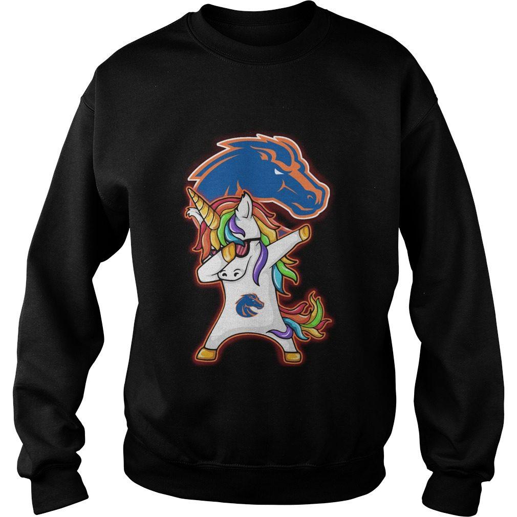 Unicorn Dabbing Boise State Broncos Sweater