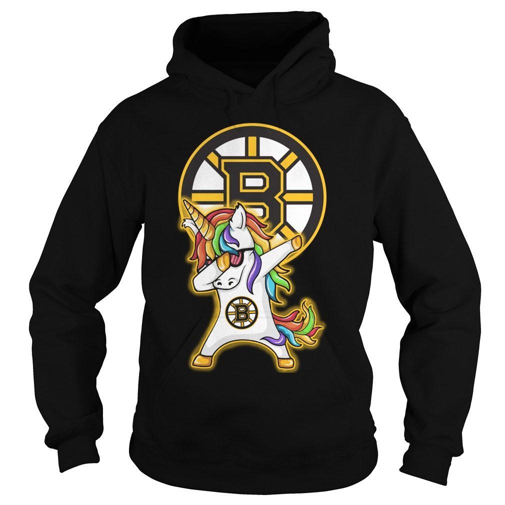 Unicorn Dabbing Boston Bruins Hoodie