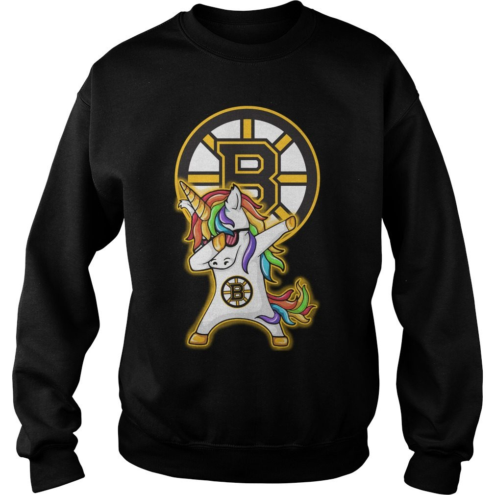 Unicorn Dabbing Boston Bruins Sweater