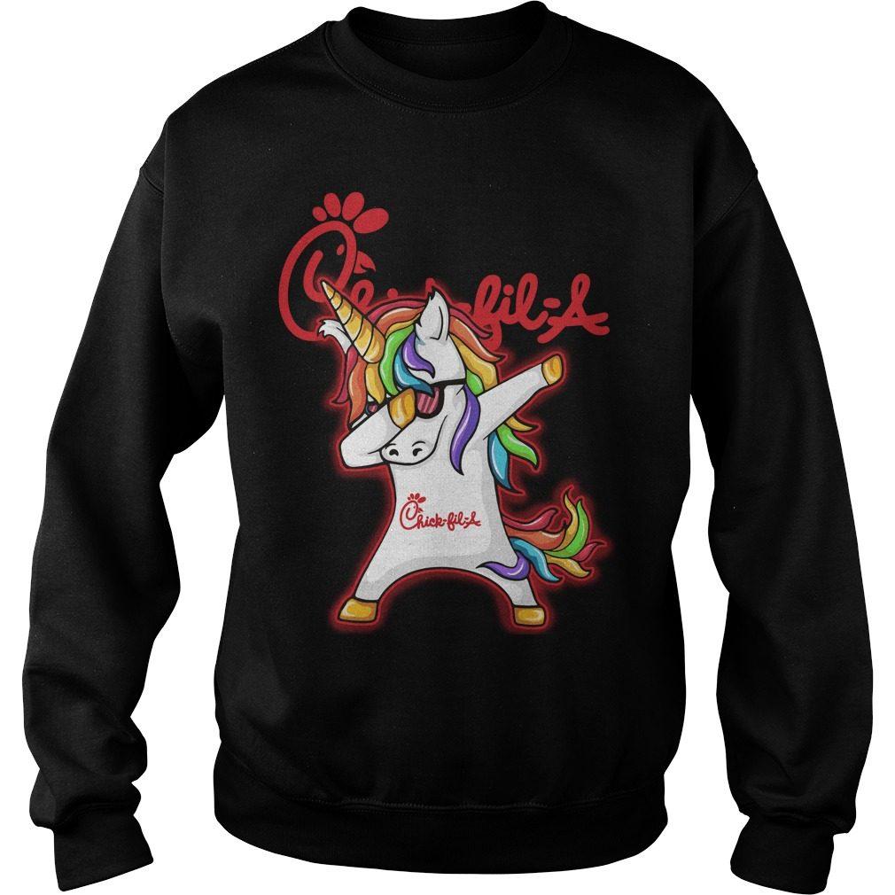 Unicorn Dabbing Chick Fil Sweater