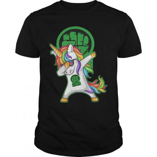 Unicorn Dabbing Hulk Shirt