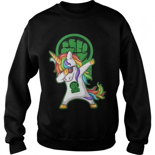 Unicorn Dabbing Hulk Sweater