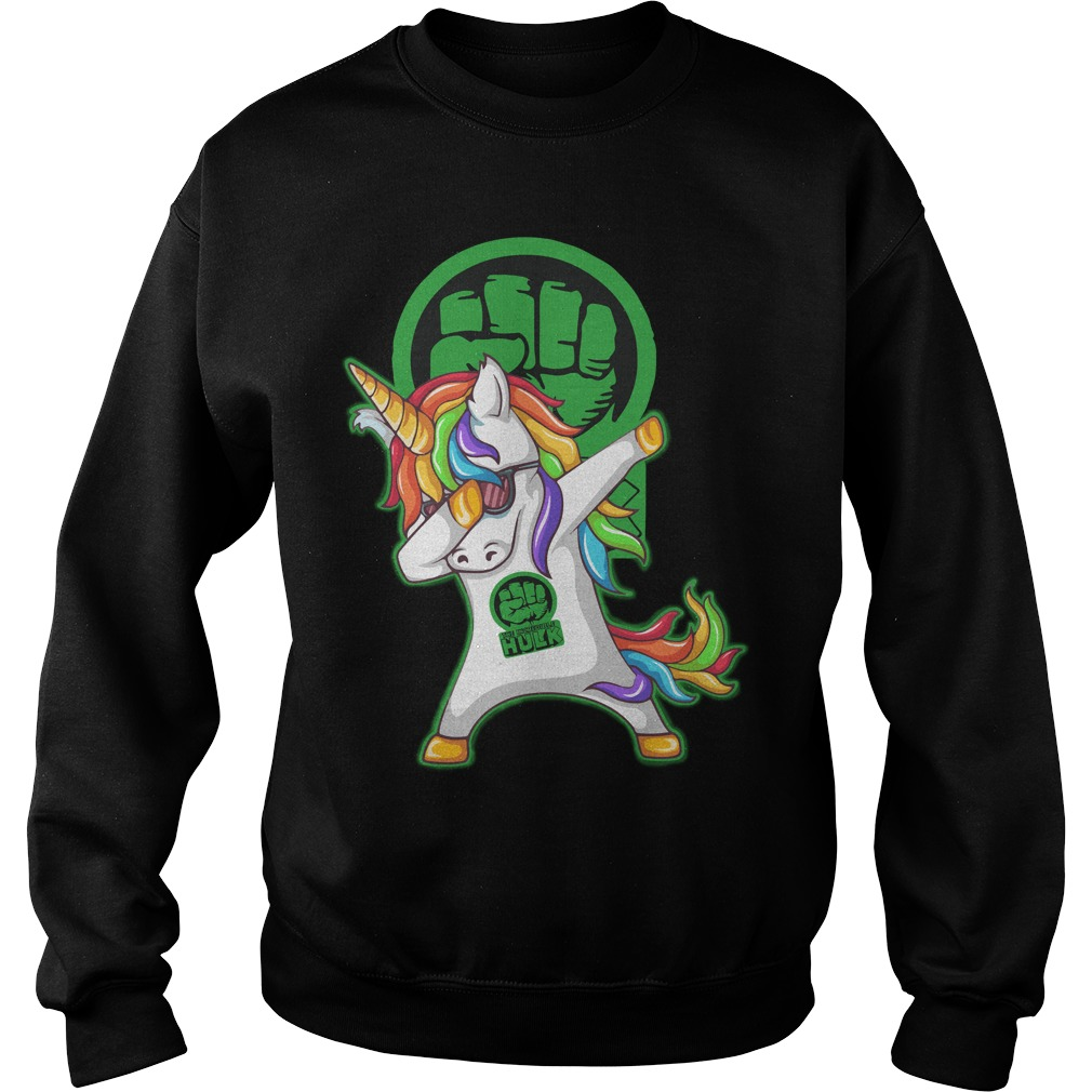 Unicorn Dabbing Hulk Sweater
