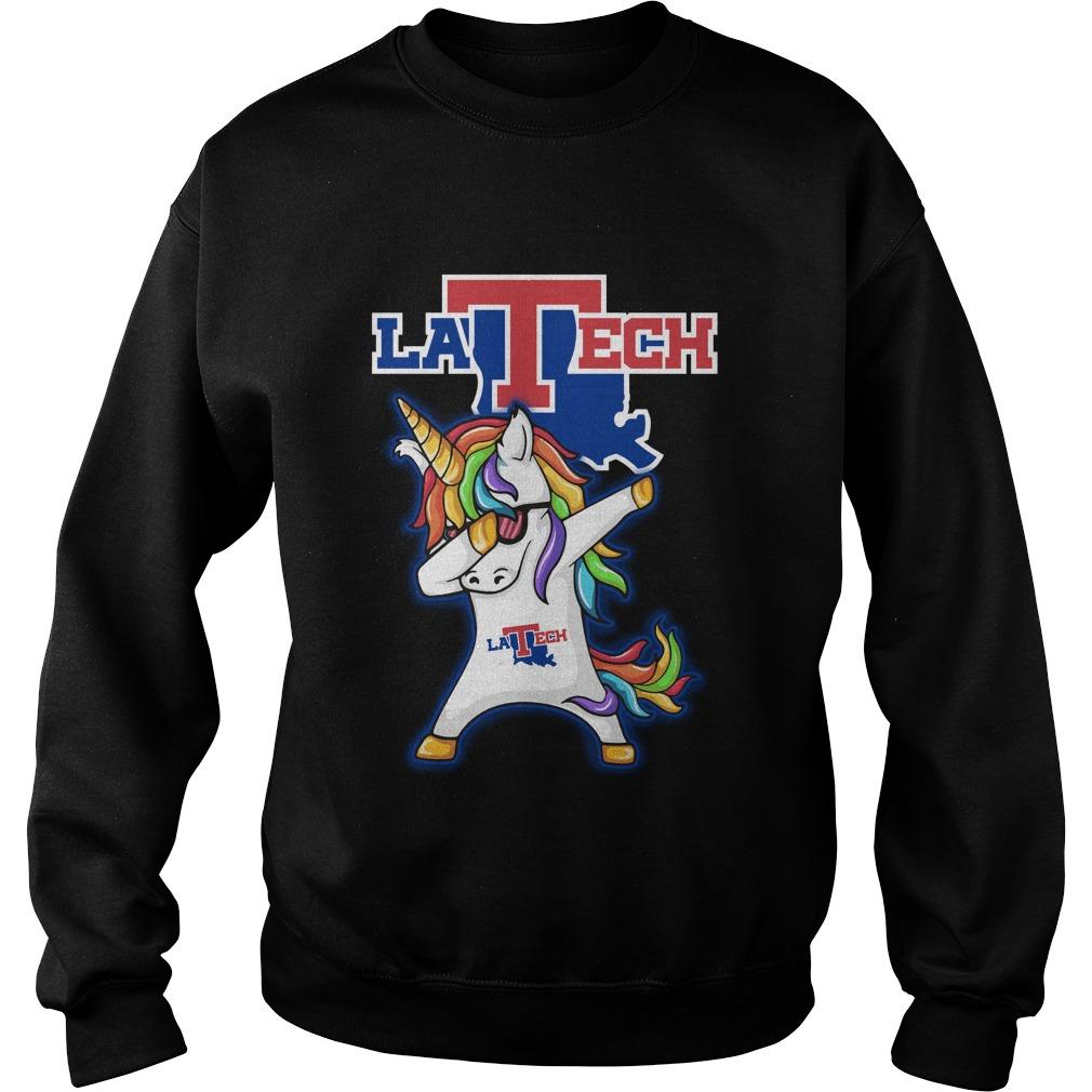 Unicorn Dabbing Louisiana Tech Bulldogs Sweater