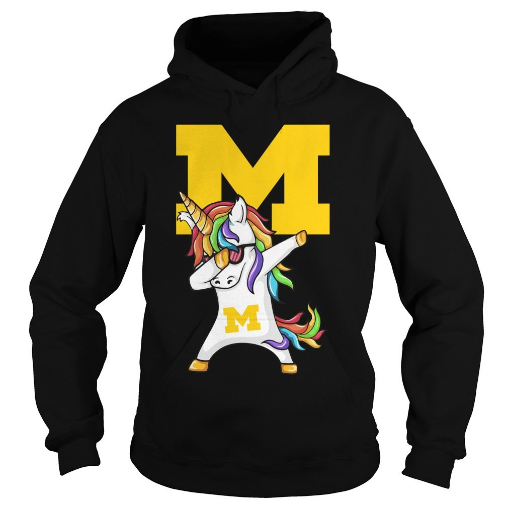 Unicorn Dabbing Michigan Medicine Hoodie