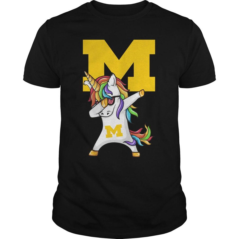 Unicorn Dabbing Michigan Medicine Shirt