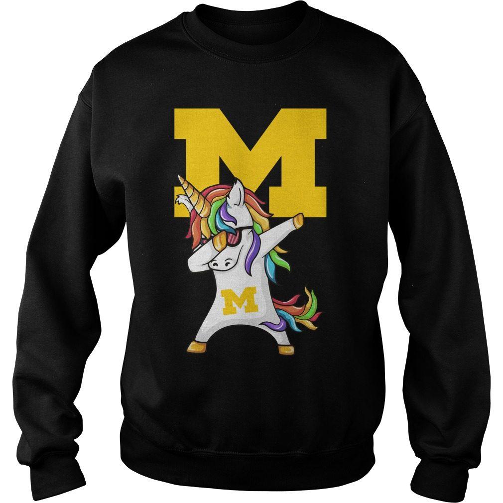 Unicorn Dabbing Michigan Medicine Sweater