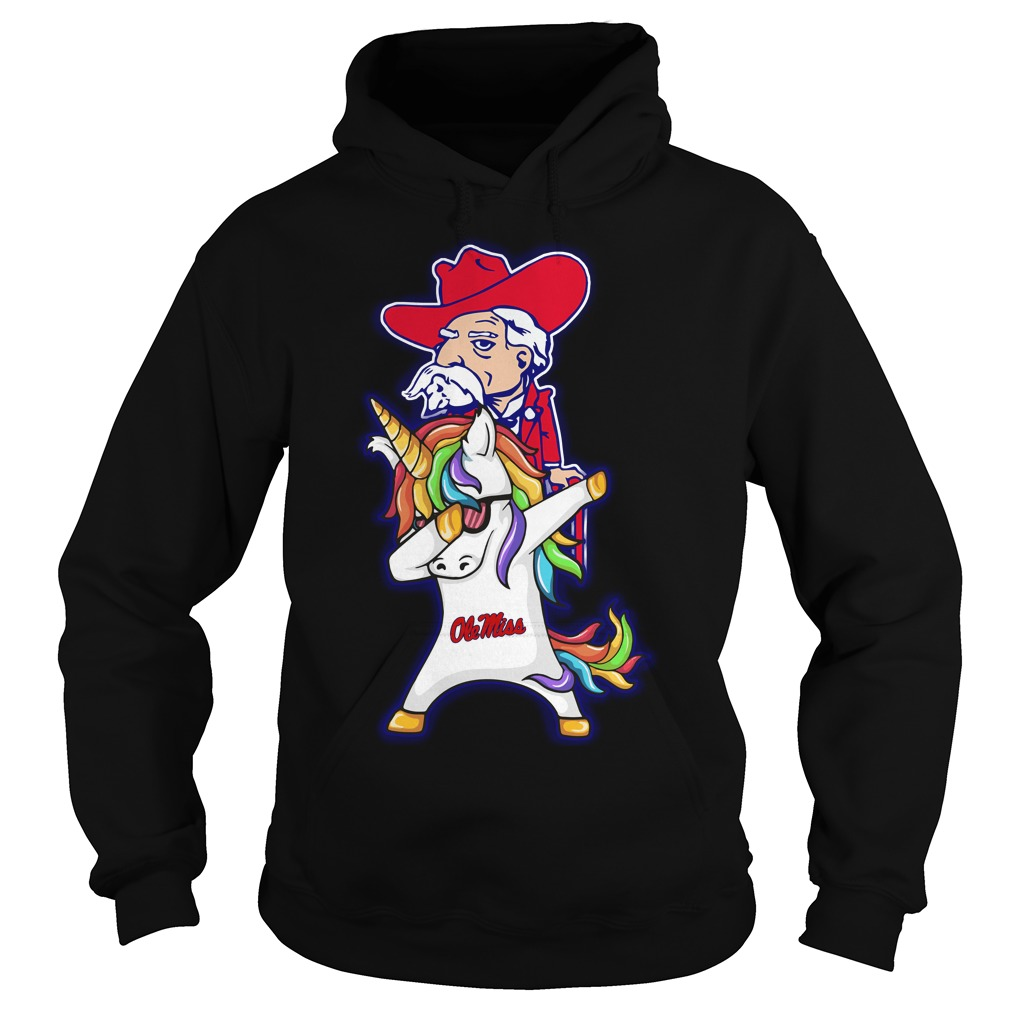 Unicorn Dabbing Ole Miss Rebels Hoodie