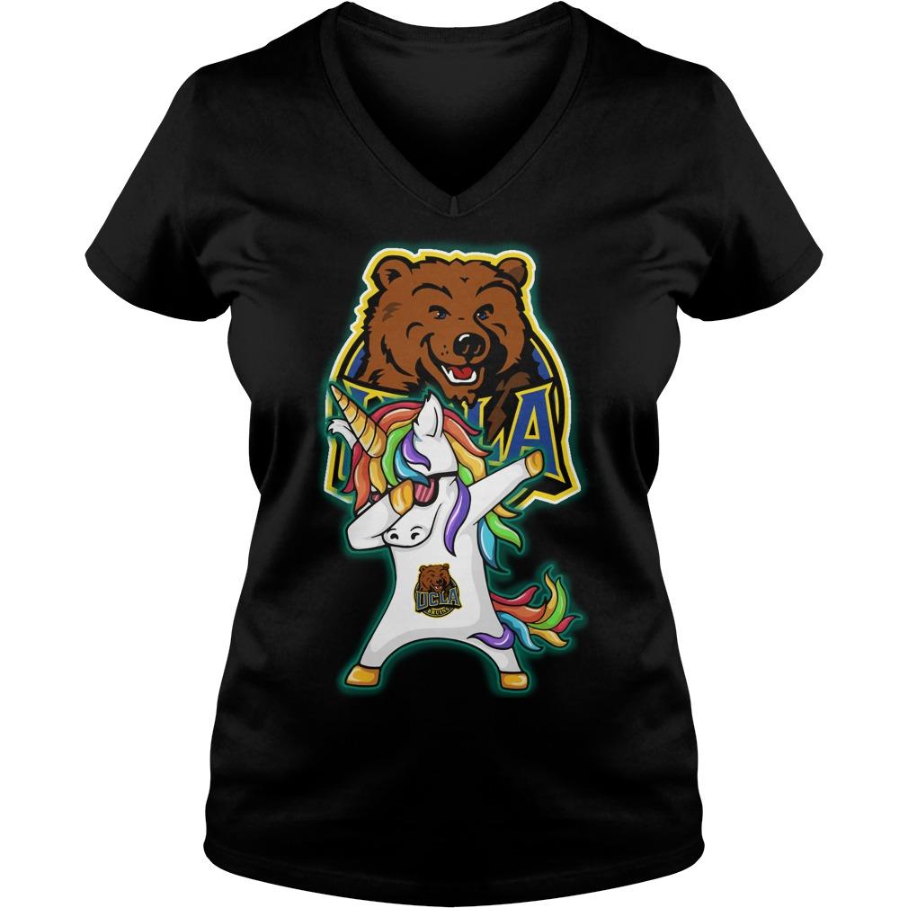 Unicorn Dabbing Ucla Bruins V Neck T Shirt