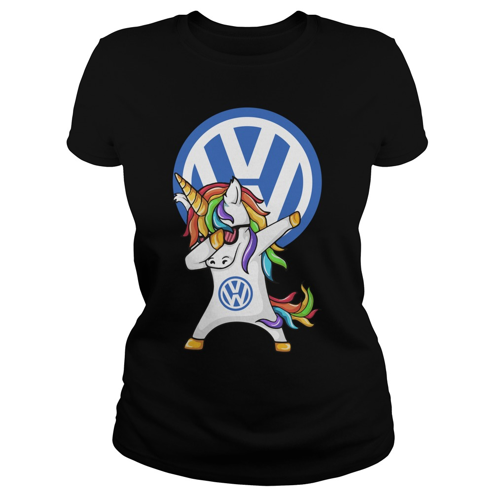 Unicorn Dabbing Volkswagen Ladies Tee