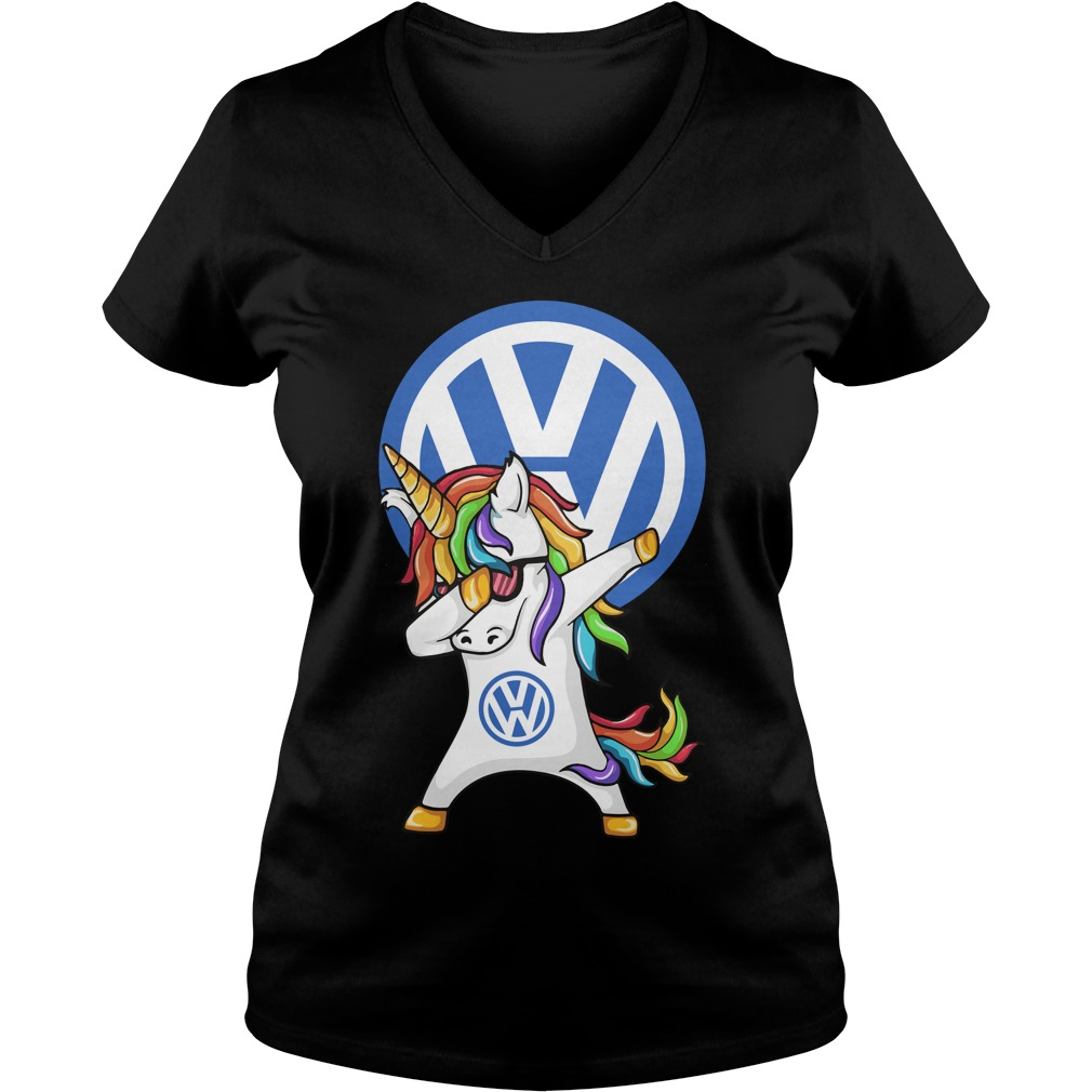 Unicorn Dabbing Volkswagen V Neck T Shirt