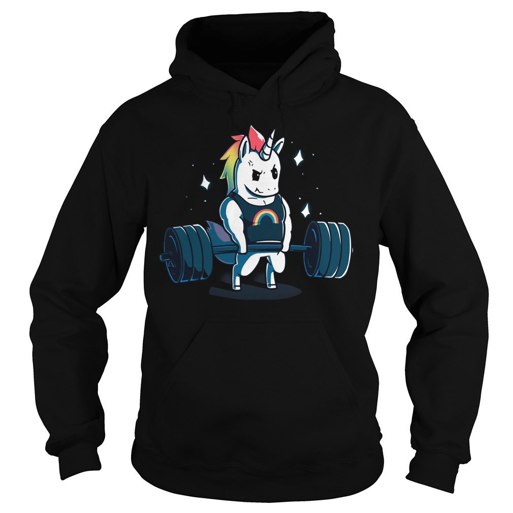 Weight Lifting Gym Unicorn Hoodie