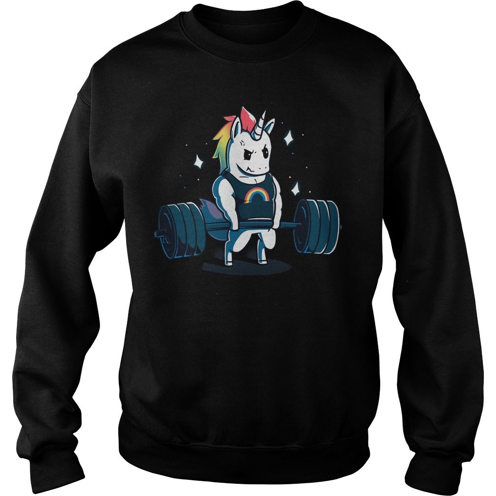 Weight Lifting Gym Unicorn Sweater