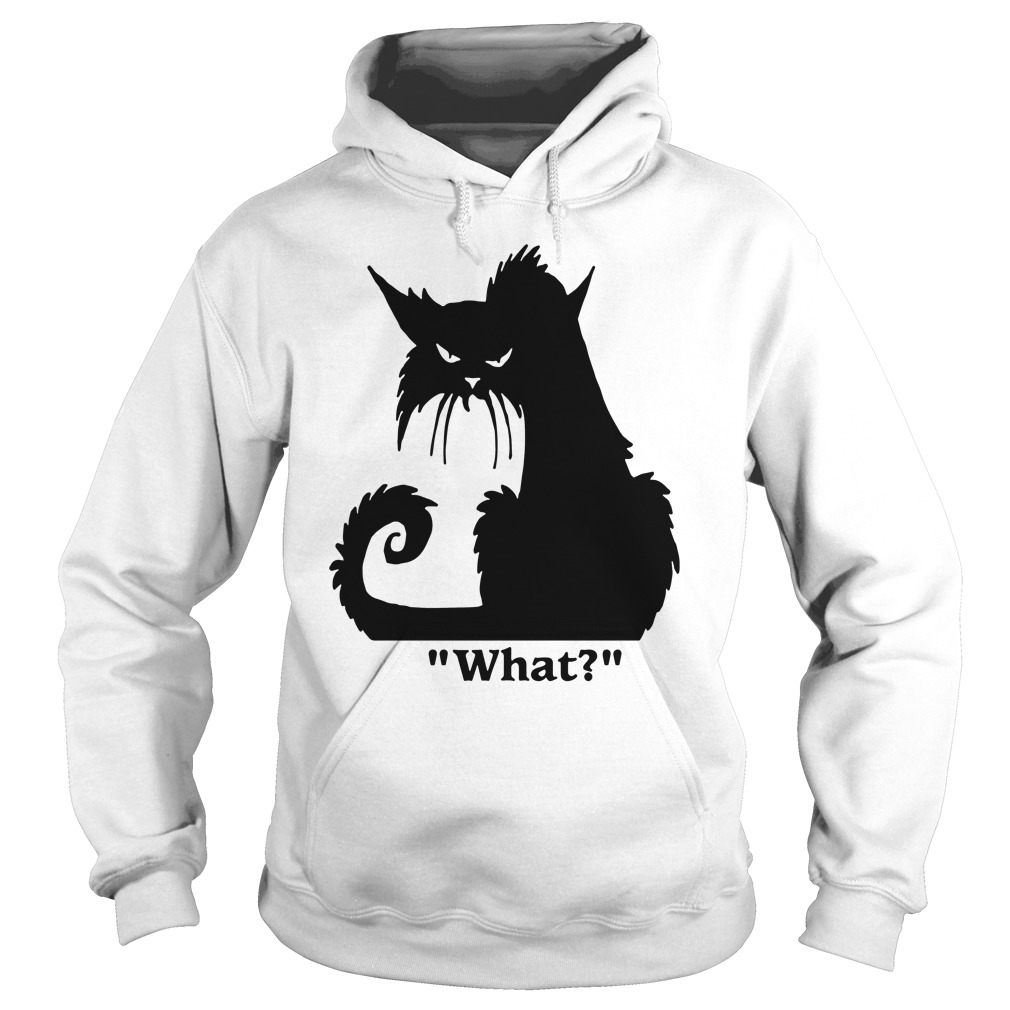 Angry Black Cat What Hoodie