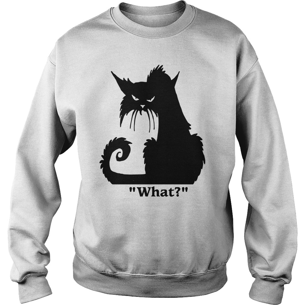 Angry Black Cat What Sweater