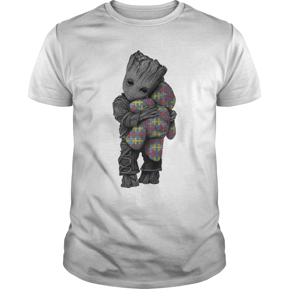 Autism Groot Hug Tedd Guys Shirt