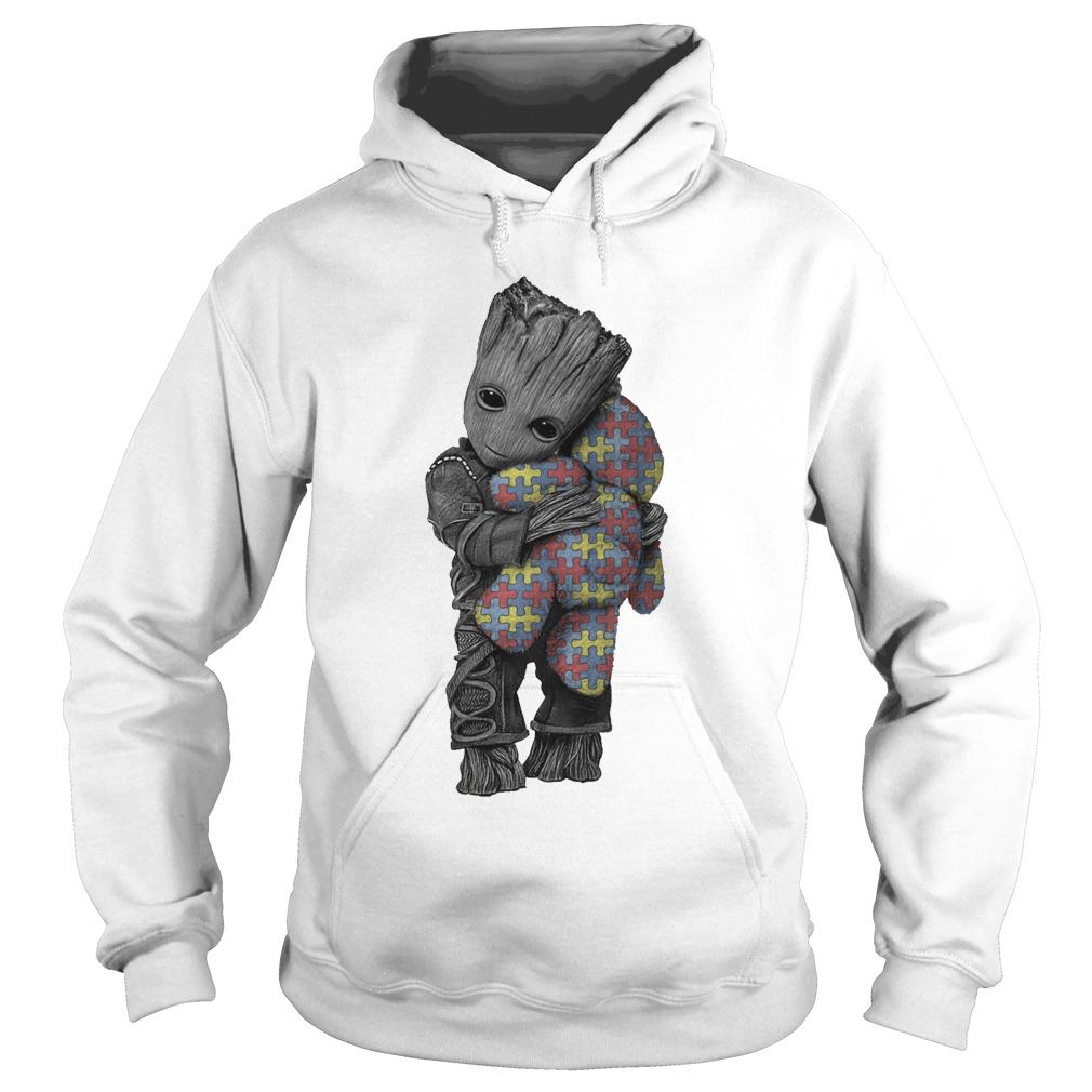 Autism Groot Hug Tedd Hoodie