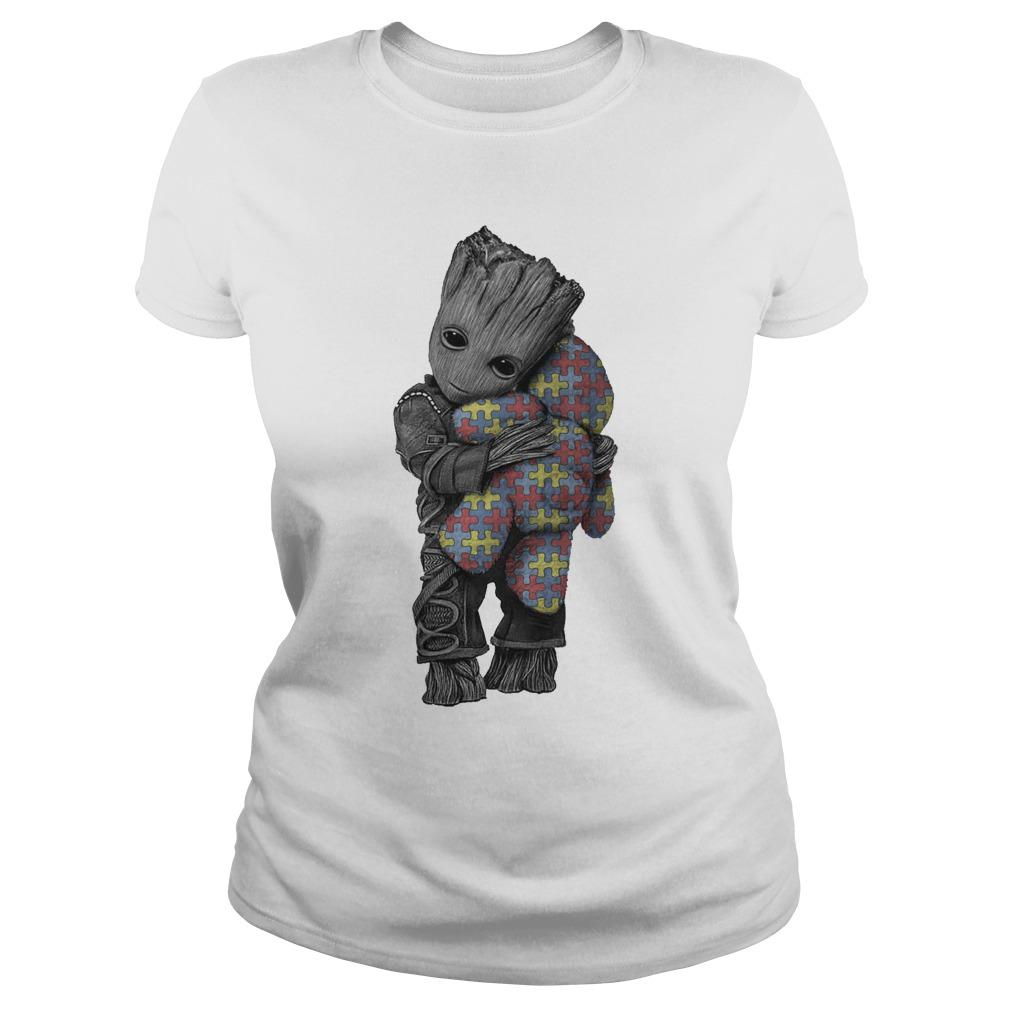 Autism Groot Hug Tedd Ladies Tee