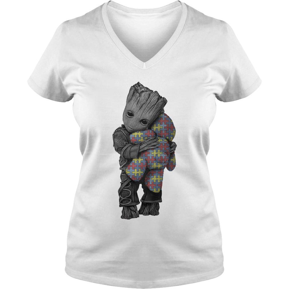 Autism Groot Hug Tedd V Neck T Shirt